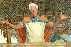 King Benjamin told to people to believe in God