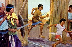 A fight between Zeniff and Lamanites