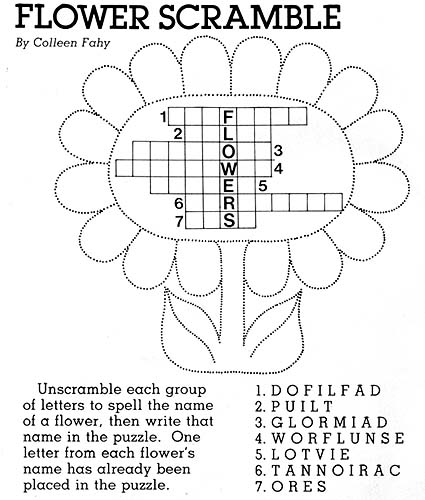 Flower Scramble
