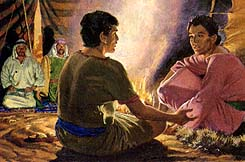 Nephi spoke with his brothers