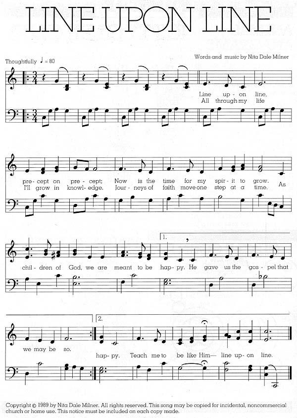 Music, Line upon Line
