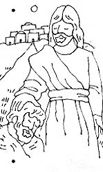 Sharing time divine directions friend aug 1989 friend for Jesus heals ten lepers coloring page
