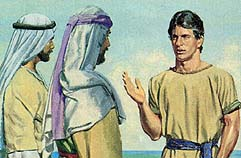 Nephi tells Laman and Lemuel to repent