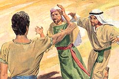 Nephi commanded them not to touch him