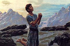 Nephi went into the mountain to pray