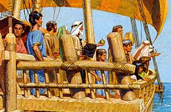 Nephi steered the ship