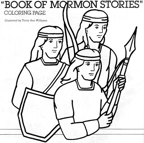 Book of mormon stories coloring page