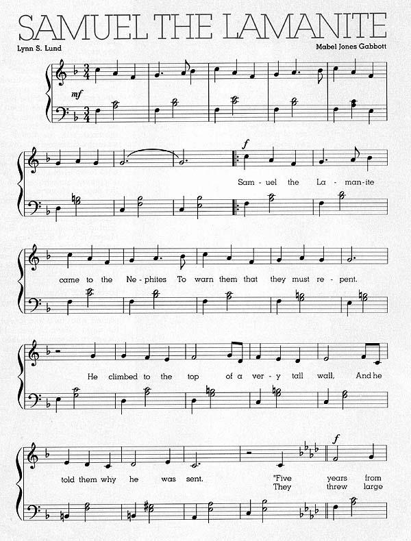 Music, Samuel the Lamanite