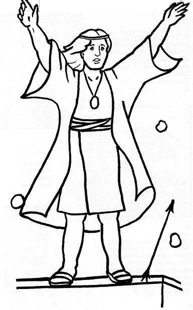"""Book of Mormon Stories"""" Coloring Page - friend"""