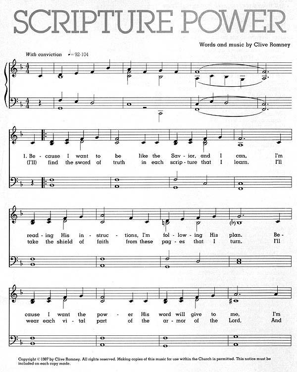 Music, Scripture Power
