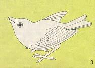Becomes a bird