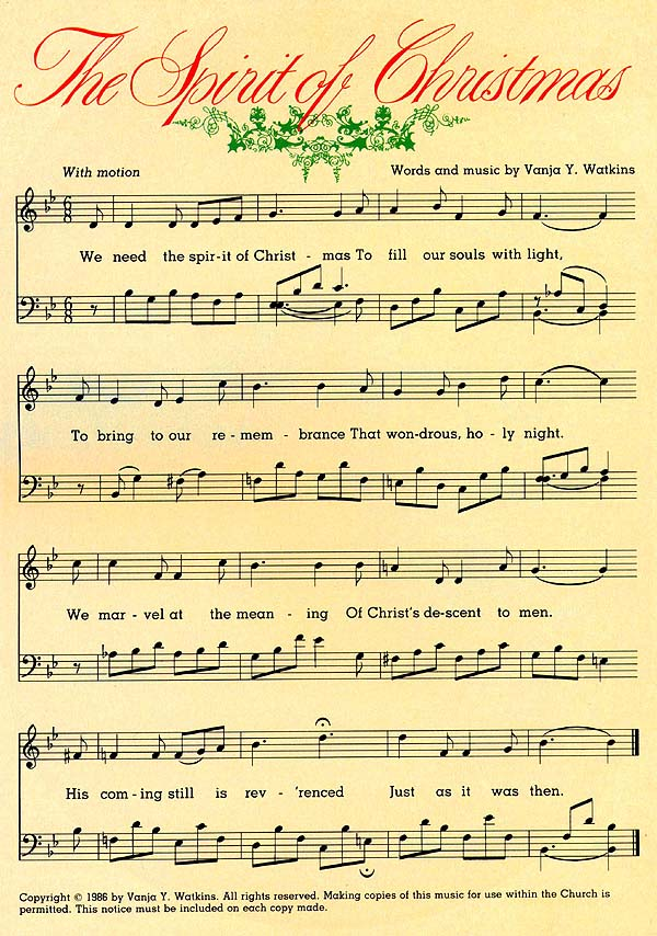 Music, The Spirit of Christmas