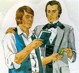 Brigham Young gets a copy of the Book of Mormon
