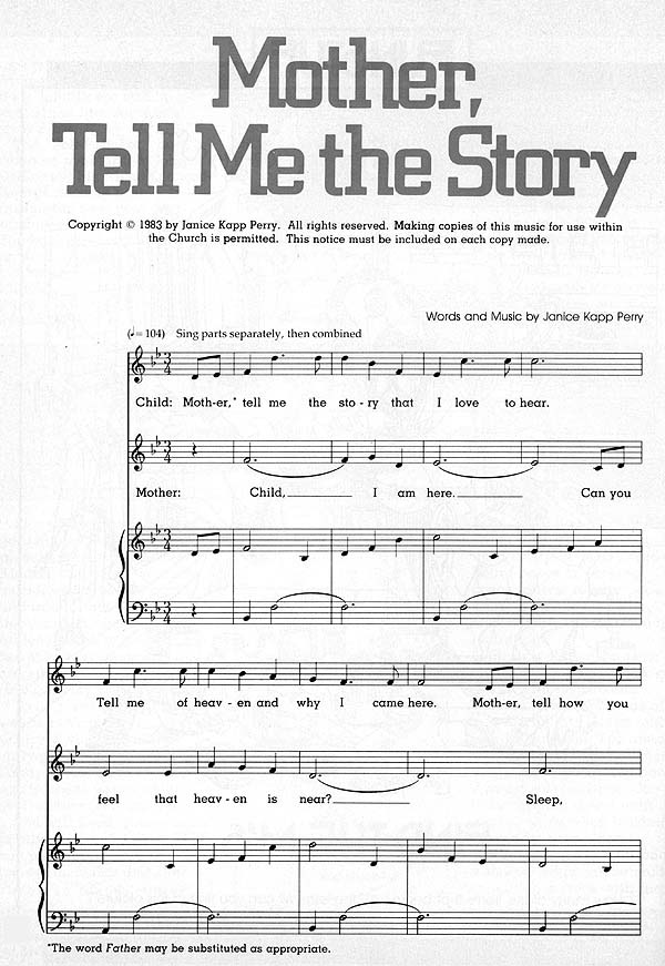 Music, Mother, Tell Me the Story