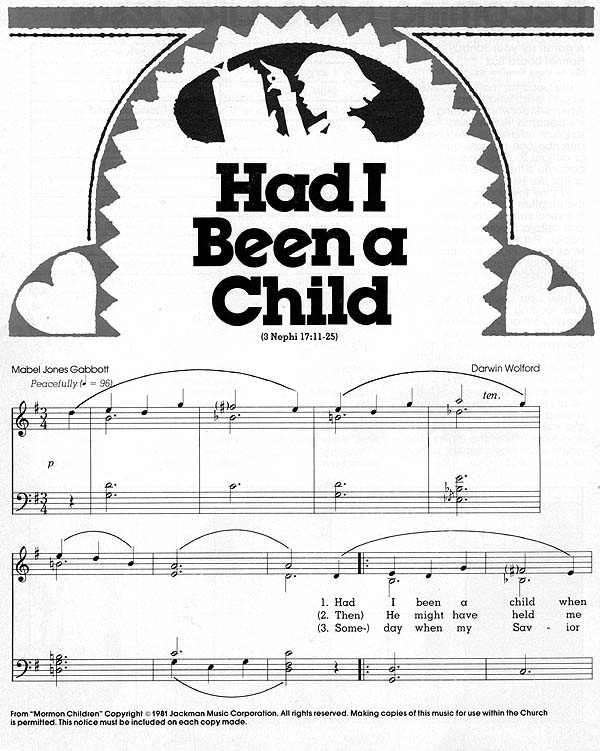 Music, Had I Been a Child