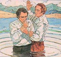 Joseph and Oliver baptize each other