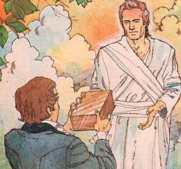 Joseph returns plates to Moroni