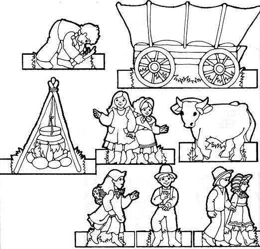 Remembering the pioneers friend for Lds pioneer coloring pages