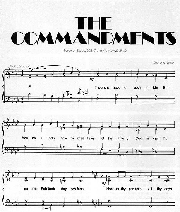 Music, The Commandments