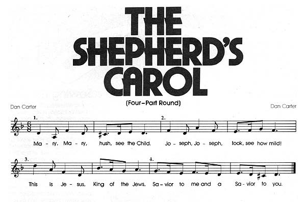 Music, The Shepherd's Carol