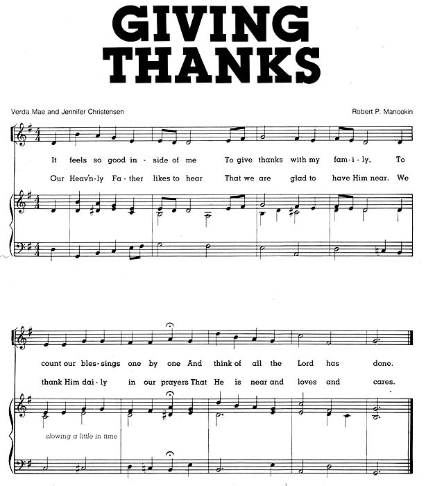 Music, Giving Thanks