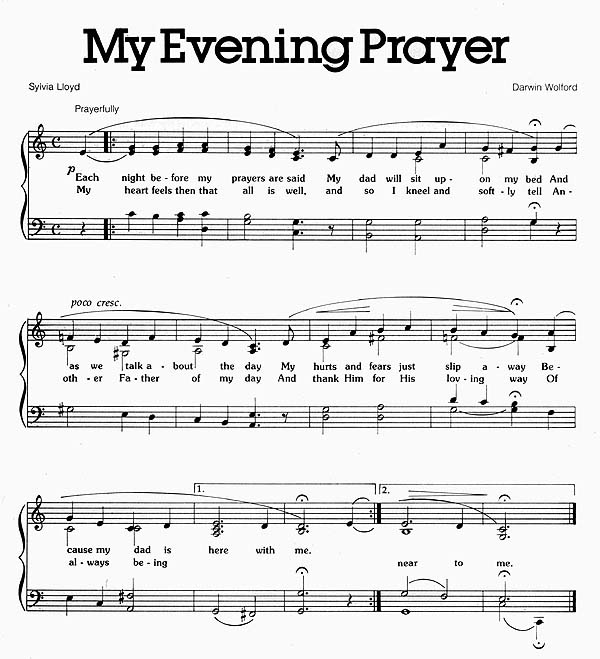 Music, My Evening Prayer