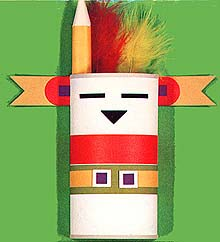 Kachina Doll Pencil Holder