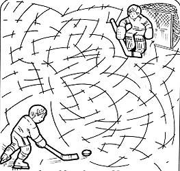 Ice Hockey Maze