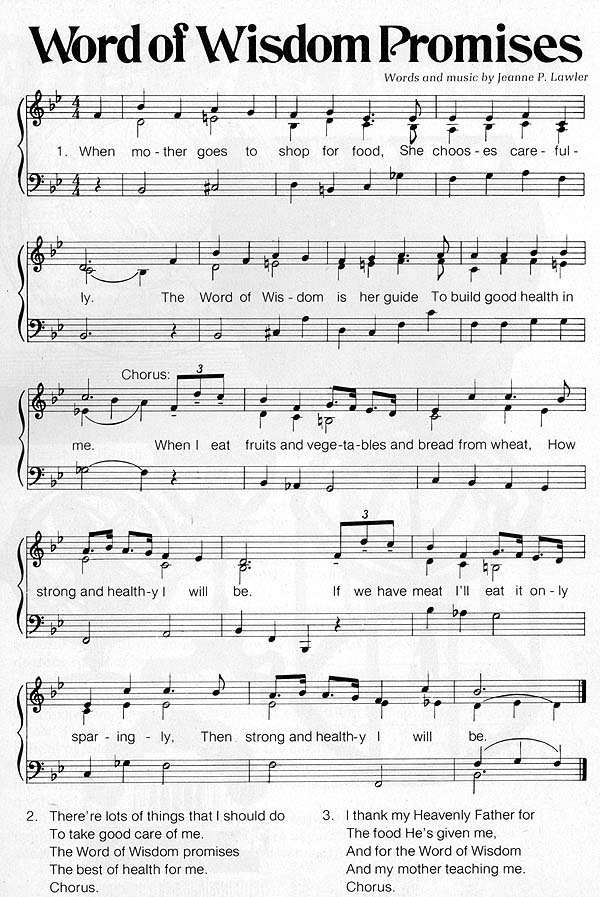 Music, Word of Wisdom Promises