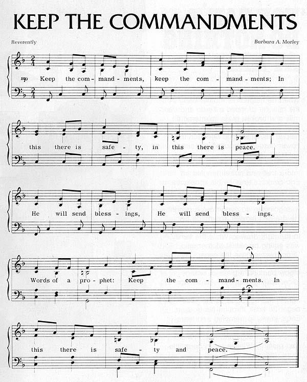 Music, Keep the Commandments