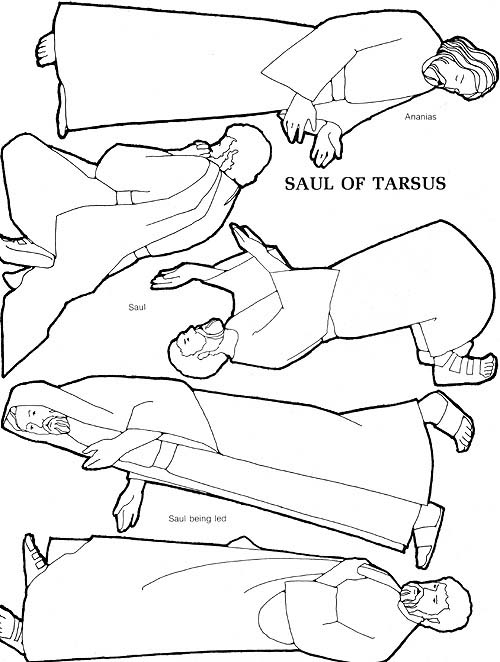 Saul Of Tarsus Coloring Pages
