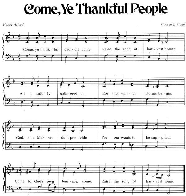 Music, Come, Ye Thankful People