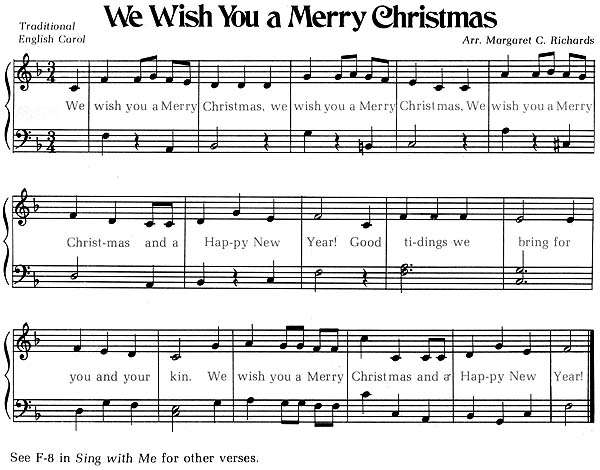 We Wish You A Merry Christmas Song.Christmas Carols