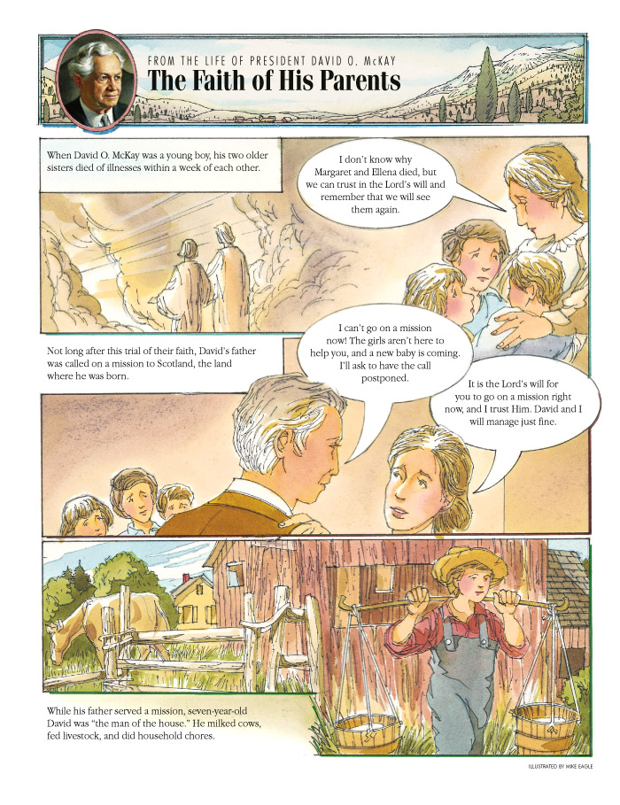 The Faith of His Parents, left page