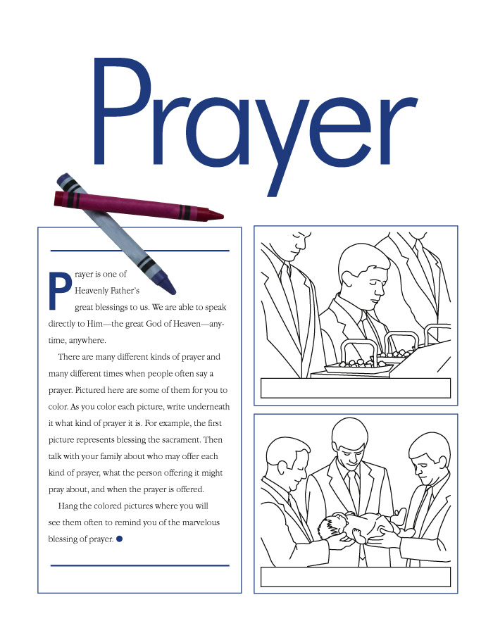 Prayer, left page