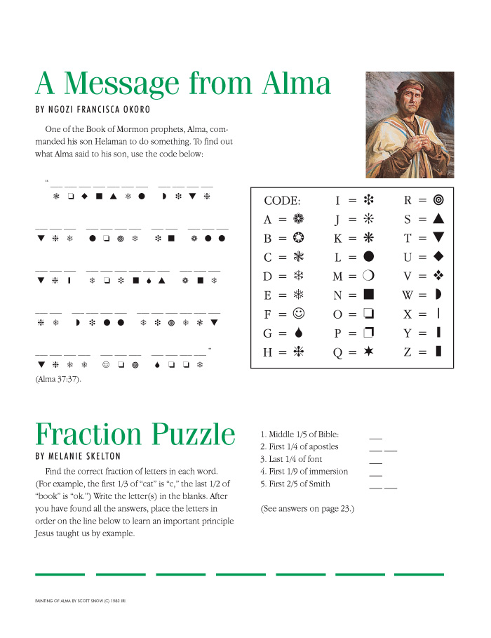 Primarily Inclined Primary 4 Lesson 14 Alma the Younger and the