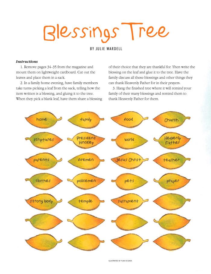Blessing tree leaves