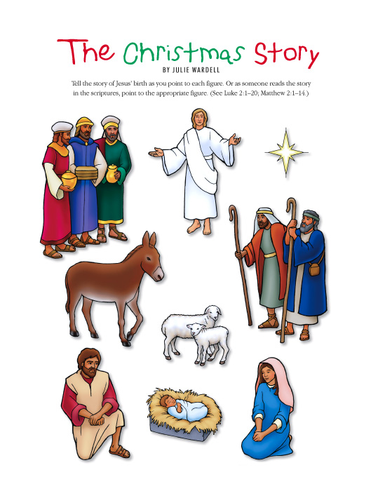 The Christmas story cutouts