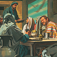Jesus and Apostles eat the Passover