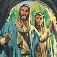 Peter and John run to tomb