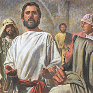 Jesus teaches the Apostles