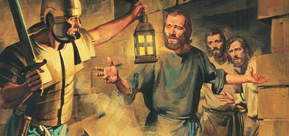 Paul teaches the gospel to the guard