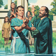 They baptize his family