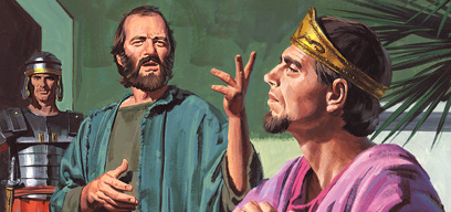 Paul tells King Agrippa about Jesus