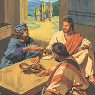 Jesus eating with sinners
