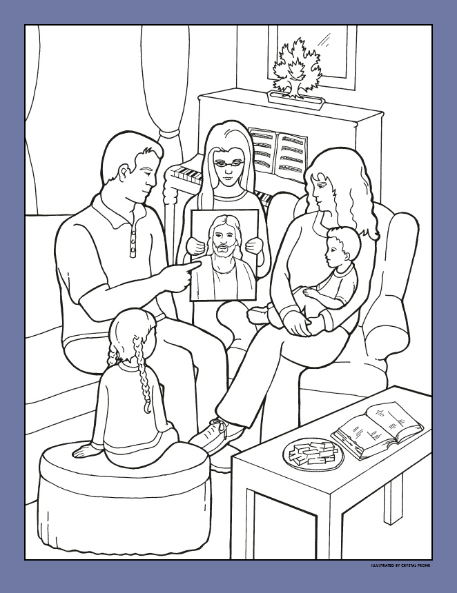 i will follow heavenly fathers plan for me - Primary Coloring Pages