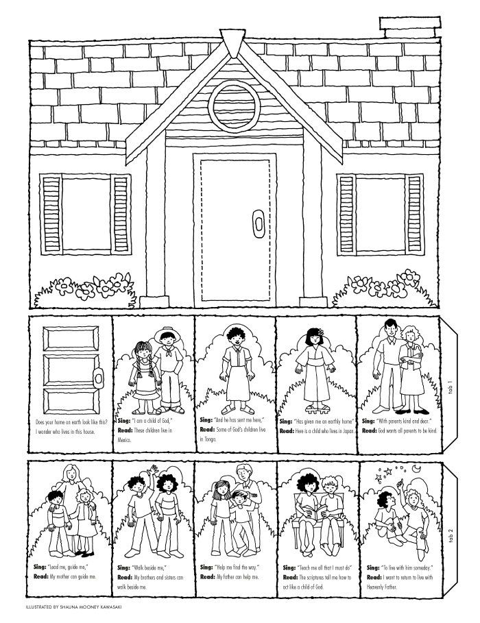 I can live with my father in heaven again liahona for I am a child of god coloring page