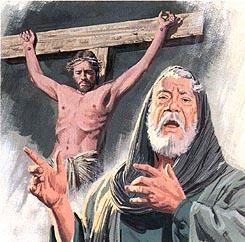 Jesus would die on a cross
