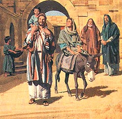Joseph, Mary and Jesus return