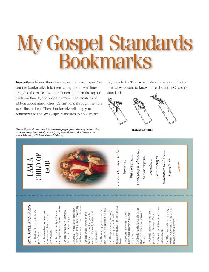My Gospel Standards Bookmark